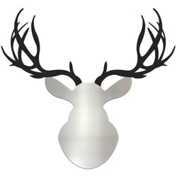 ENFORCER BUCK - 36x36 in. Silver & Black Deer Cut-Out