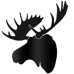 MIDNIGHT MOOSE - 36x36 in. Pure Black D?cor