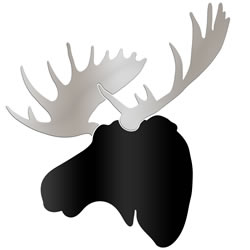 URBAN MOOSE - 36x36 in. Black & Silver D?cor