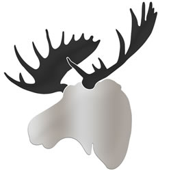 ENFORCER MOOSE - 36x36 in. Silver & Black Decor