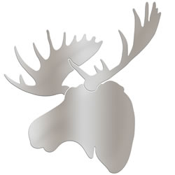 SILVER MOOSE - 36x36 in. Metallic Decor