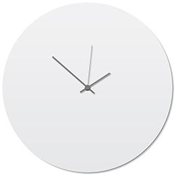 Whiteout Grey Circle Clock Large 23x23in. Aluminum Polymetal