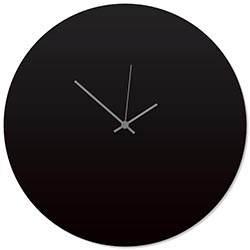 Blackout Grey Circle Clock Large 23x23in. Aluminum Polymetal