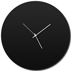 Blackout Circle Clock by Adam Schwoeppe - Minimalist Modern Black Metal Clock