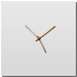 Adam Schwoeppe Whiteout Bronze Square Clock Midcentury Modern Style Wall Clock