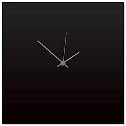 Blackout Grey Square Clock 16x16in. Aluminum Polymetal