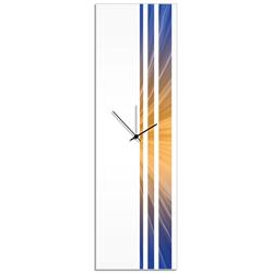 Candlelight Triple Stripe Clock by Adam Schwoeppe Large Modern Clock on Acrylic