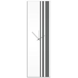Grey Triple Stripe Clock by Adam Schwoeppe Large Modern Clock on Acrylic