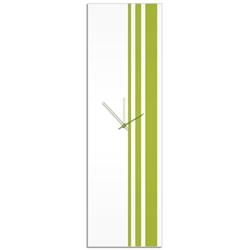 Green Triple Stripe Clock by Adam Schwoeppe Large Modern Clock on Acrylic