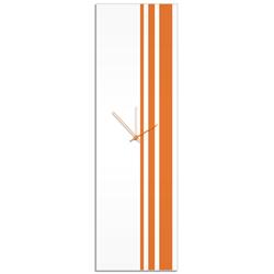Orange Triple Stripe Clock by Adam Schwoeppe Large Modern Clock on Acrylic