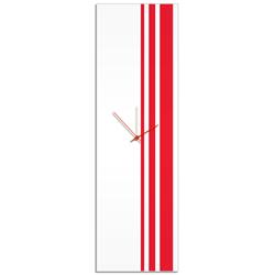 Red Triple Stripe Clock by Adam Schwoeppe Large Modern Clock on Acrylic