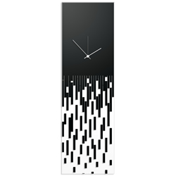 Black Pixelated Clock by Adam Schwoeppe Surreal Wall Clock on Acrylic