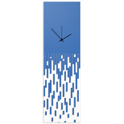 Blue Pixelated Clock by Adam Schwoeppe Surreal Wall Clock on Acrylic