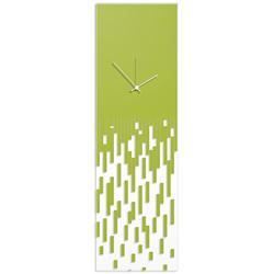 Green Pixelated Clock by Adam Schwoeppe Surreal Wall Clock on Acrylic