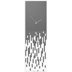 Grey Pixelated Clock by Adam Schwoeppe Surreal Wall Clock on Acrylic