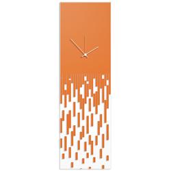 Orange Pixelated Clock by Adam Schwoeppe Surreal Wall Clock on Acrylic