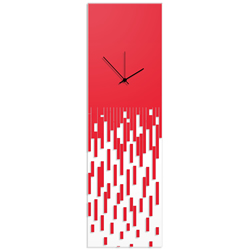 Red Pixelated Clock by Adam Schwoeppe Surreal Wall Clock on Acrylic