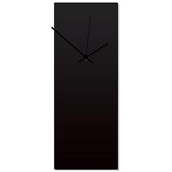 Blackout Black Clock Large 8.25x22in. Aluminum Polymetal