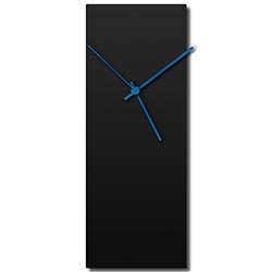 Blackout Blue Clock 8.25x22in. Aluminum Polymetal