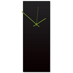Blackout Green Clock Large 8.25x22in. Aluminum Polymetal