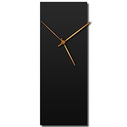 Adam Schwoeppe Blackout Bronze Clock Large Midcentury Modern Style Wall Clock