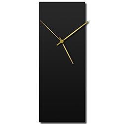 Adam Schwoeppe Blackout Gold Clock Large Midcentury Modern Style Wall Clock
