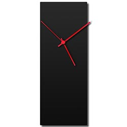 Blackout Red Clock 6x16in. Aluminum Polymetal