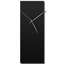 Adam Schwoeppe Blackout Silver Clock Midcentury Modern Style Wall Clock
