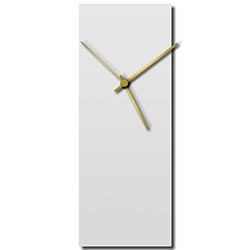 Adam Schwoeppe Whiteout Gold Clock Large Midcentury Modern Style Wall Clock