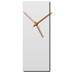 Whiteout Orange Clock 6x16in. Aluminum Polymetal