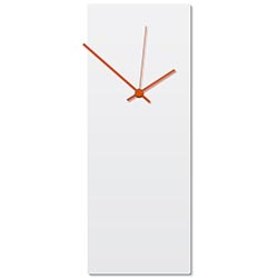 Whiteout Orange Clock Large 8.25x22in. Aluminum Polymetal