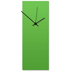 Greenout Black Clock Large 8.25x22in. Aluminum Polymetal