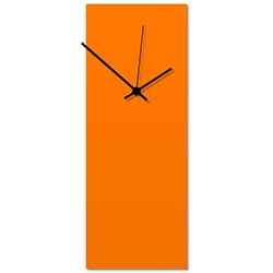 Orangeout Black Clock Large 8.25x22in. Aluminum Polymetal