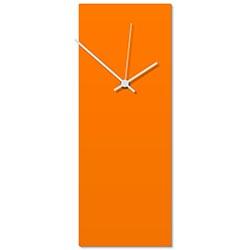 Orangeout White Clock 6x16in. Aluminum Polymetal