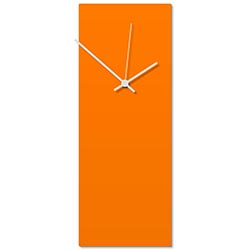 Orangeout White Clock Large 8.25x22in. Aluminum Polymetal