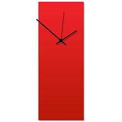 Redout Black Clock 6x16in. Aluminum Polymetal