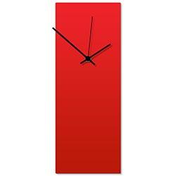 Redout Black Clock 6x16in. Aluminum Polymetal