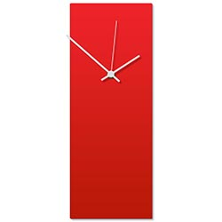 Redout White Clock 6x16in. Aluminum Polymetal