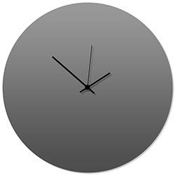 Grayout Black Circle Clock 16x16in. Aluminum Polymetal