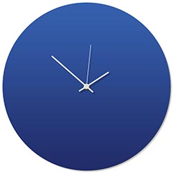 Blueout White Circle Clock 16x16in. Aluminum Polymetal