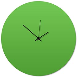 Greenout Black Circle Clock 16x16in. Aluminum Polymetal