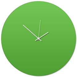 Greenout White Circle Clock 16x16in. Aluminum Polymetal