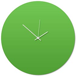 Greenout White Circle Clock Large 23x23in. Aluminum Polymetal