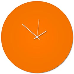 Orangeout White Circle Clock Large 23x23in. Aluminum Polymetal