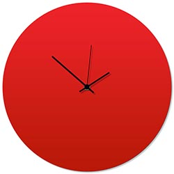 Redout Black Circle Clock 16x16in. Aluminum Polymetal