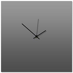 Grayout Black Square Clock 16x16in. Aluminum Polymetal