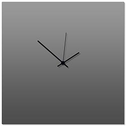 Grayout Black Square Clock Large 23x23in. Aluminum Polymetal