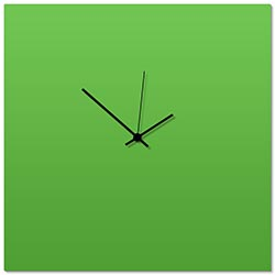 Greenout Black Square Clock Large 23x23in. Aluminum Polymetal
