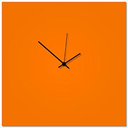 Orangeout Black Square Clock Large 23x23in. Aluminum Polymetal