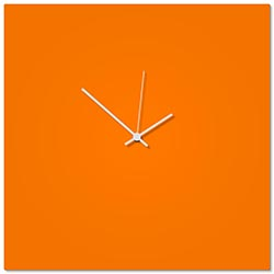 Orangeout White Square Clock Large 23x23in. Aluminum Polymetal